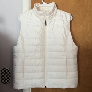 BRAND NEW WITH TAGS! White Puffer Vest